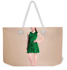 Weekender Tote Bag featuring the digital art Ainsley by Nancy Levan