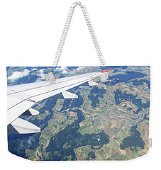 Weekender Tote Bag featuring the photograph Air Berlin Over Switzerland by Travel Pics