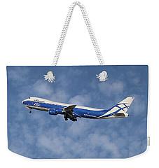 Air Bridge Cargo Airlines Boeing 747-83q Weekender Tote Bag