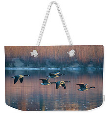 Weekender Tote Bag featuring the photograph Air Canada by Ricky L Jones
