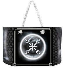 Weekender Tote Bag featuring the digital art Air Emblem Sigil by Shawn Dall