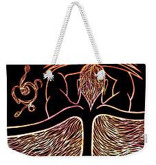Weekender Tote Bag featuring the drawing Fire Spirit by Jamie Lynn