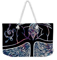 Weekender Tote Bag featuring the drawing Water Spirit by Jamie Lynn