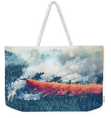 Air Tanker On Crow Peak Fire Weekender Tote Bag