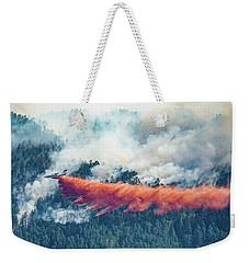 Air Tanker On Crow Peak Fire Weekender Tote Bag