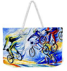 Weekender Tote Bag featuring the painting Airborne by Hanne Lore Koehler