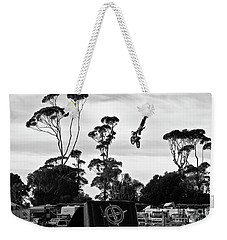 Airborne Motorcycle Performance Weekender Tote Bag by Yurix Sardinelly