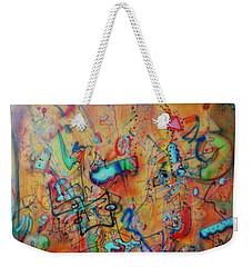 Digital Landscape, Airbrush 1 Weekender Tote Bag by Pierre Van Dijk