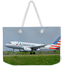 Airbus A319 Weekender Tote Bag by Guy Whiteley