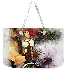 Aircraft Girl Weekender Tote Bag
