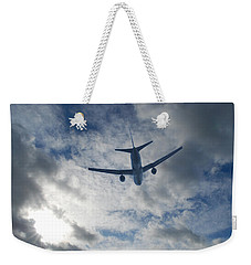 Weekender Tote Bag featuring the photograph Airliner 01 by Mark Alan Perry