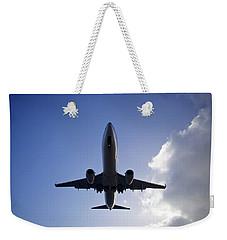 Airplane Landing Weekender Tote Bag by Teemu Tretjakov