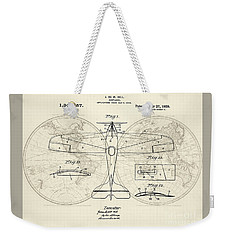 Airplane Patent Collage Weekender Tote Bag by Delphimages Photo Creations