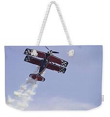 Airplane Performing Stunts At Airshow Photo Poster Print Weekender Tote Bag