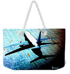 Weekender Tote Bag featuring the photograph Airplane Tactics by Sadie Reneau