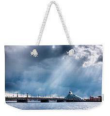 Weekender Tote Bag featuring the photograph Akmens Tilts  by Fabrizio Troiani