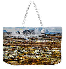 Akureyri, Iceland Weekender Tote Bag by Shirley Mangini