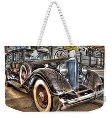 Al Capone's Packard Weekender Tote Bag by Nicholas  Grunas