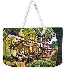 Weekender Tote Bag featuring the photograph Al Fresco Dining by Chuck Staley
