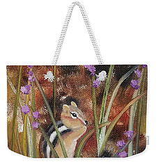 Weekender Tote Bag featuring the painting Al Fresco Dining With A View by Judith Rhue