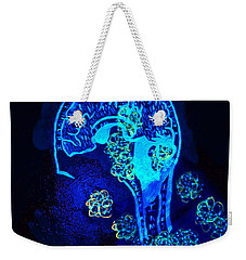 Al In The Mind Black Light View Weekender Tote Bag by Lisa Brandel