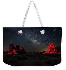 Alabama Hills Milky Way Redlight Weekender Tote Bag