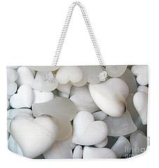 Alabaster Hearts Weekender Tote Bag by Ana Mireles