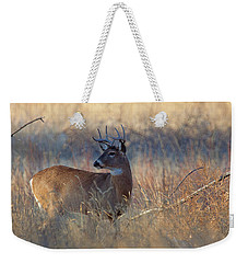 Weekender Tote Bag featuring the photograph Alarm by Jim Garrison