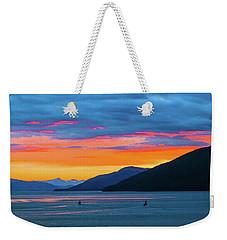 Alaska Fishermans Sunset Weekender Tote Bag