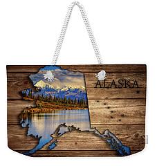 Alaska Map Collage Weekender Tote Bag