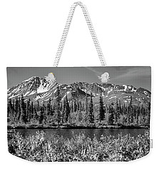 Weekender Tote Bag featuring the photograph Alaska Mountains by Zawhaus Photography