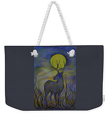Weekender Tote Bag featuring the drawing Alaska Stories. Part Four by Anna  Duyunova
