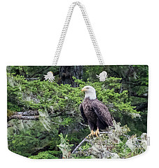 Alaskan Bald Eagle Weekender Tote Bag