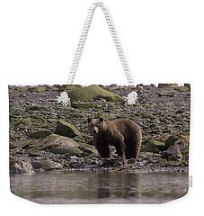 Alaskan Brown Bear Dining On Mollusks Weekender Tote Bag