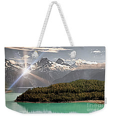 Alaskan Mountain Reflection Weekender Tote Bag