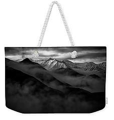 Weekender Tote Bag featuring the photograph Alaskan Peak In The Shadows by Rick Berk