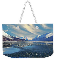 Alaskan Winter Landscape Weekender Tote Bag