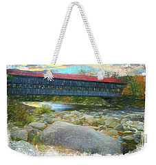 Albany Covered Bridge Nh. Weekender Tote Bag