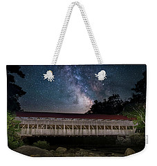 Albany Covered Bridge Under The Milky Way Weekender Tote Bag