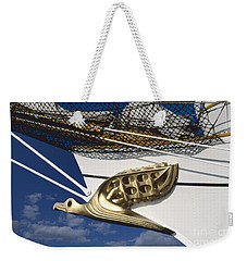 Weekender Tote Bag featuring the photograph Albatross Figurehead by Heiko Koehrer-Wagner