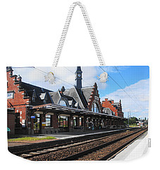 Weekender Tote Bag featuring the photograph Albert Train Station, France by Therese Alcorn