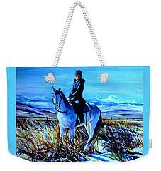 Alberta Winter Weekender Tote Bag