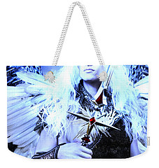 Weekender Tote Bag featuring the painting Albino Angel 2 by Suzanne Silvir