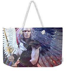 Weekender Tote Bag featuring the painting Albino Angel 4 by Suzanne Silvir