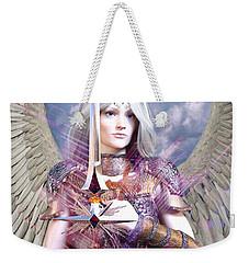 Albino Angel4 Weekender Tote Bag by Suzanne Silvir