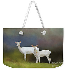 Albino Deer Weekender Tote Bag by Marion Johnson