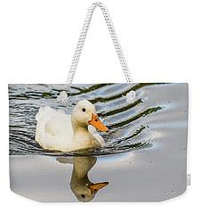 Albino Mallard Weekender Tote Bag