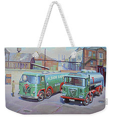 Albion Sugar Fodens At Rochester Weekender Tote Bag by Mike Jeffries