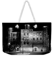Alcatraz East Crime Museum In Black And White Weekender Tote Bag