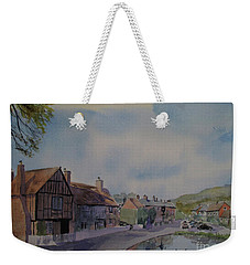 Weekender Tote Bag featuring the painting Aldbury Autumn by Martin Howard